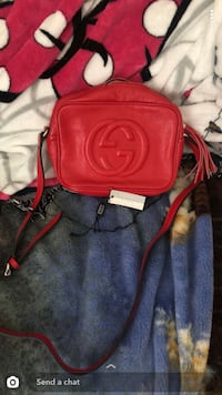 Soho small red leather disco bag Rocklin, 95677