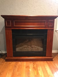 Cherry Wood Electric Fireplace East Gwillimbury