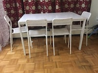 Dining table with 4 chairs  Toronto, M3C 1S3