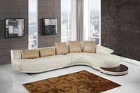 WHITE GEL LEATHER SECTIONAL WITH END TABLE Clifton, 07013