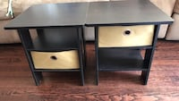 2 espresso end  tables with optional tan cloth drawers Dolton, 60419