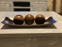 Artisan decorative bowl and orb set. Moore, 73160
