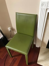 Green Leather Dining Chair Reston, 20190