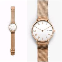 SKAGEN Hald Rose-Tone Silk-Mesh watch 551 km