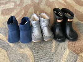 Toddler boots - hunter rain boots, gap Snow boots and koolaburra uggs