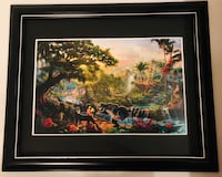 """Thomas Kincaid Disney Brand new framed art with glass size is 18x22"""" . Pu in MISSION hwy7 and cedar valley conn Mission, V2V 1C5"""