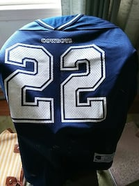 white and blue Dallas Cowboys 22 jersey White Plains, 20695