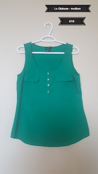 women's green sleeveless top Calgary