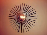 Large Metal Mirror copper Sunburst Clifton, 07013