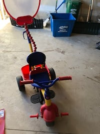 children's red and blue push trike Milton, L9T 7X6