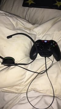 black xbox one controller and headset East Luther Grand Valley, L9W 5N5