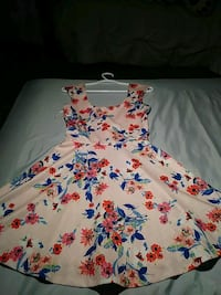 white, red, and blue floral sleeveless dress Rosenberg, 77471