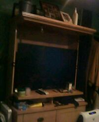 brown wooden framed glass display cabinet Patchogue, 11772