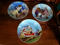 Beauty and the Beast and Flintstones plates Newmarket, L3X 1R1