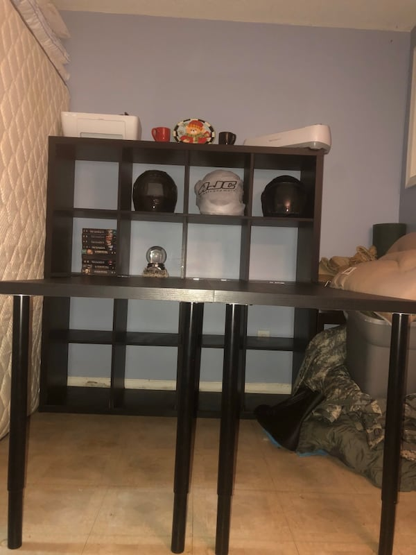 Used Large Ikea Desk With Storage Cubes For Sale In Alexandria Letgo