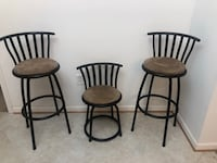 two black metal framed brown padded bar stools Columbia, 21046