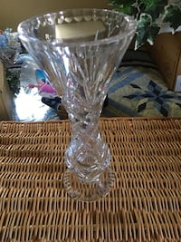 Vintage pressed glass vase Frederick, 21701