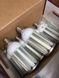 White and gray LED light bulbs collection