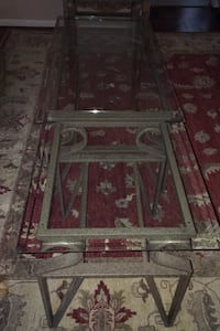 Three Piece Glass Coffee Table. / End Table Combo