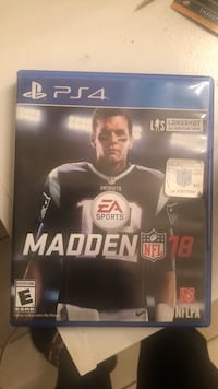 Madden NFL 18 PS4 game case Pearland, 77581