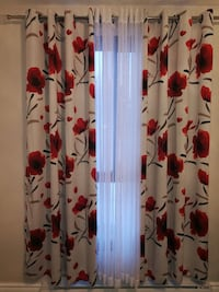 Floral curtains blackout and sheer (4 panels) Beaconsfield
