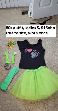 ladies small 80s outfit NOTTINGHAM