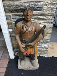 Hand Carved Wooden Indian Statue Jersey City, 07310