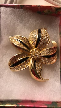 Gold-colored butterfly pendant