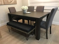 Dining table w/ 4 chairs & 1 bench Surrey, V3Z 0W1