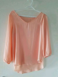 Light peach blouse