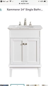 Bathroom Vanity with Marble Sink SANCLEMENTE