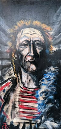 Native American Indian Wester Cowboy paintings