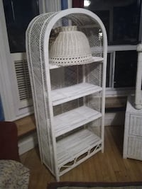 white wicker 3-layer rack MONTREAL