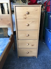 Solid wood 5-drawer dresser