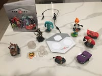 Disney Infiniti game, power disks and assorted mini figures