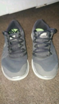 pair of gray-and-white sneakers Hamilton