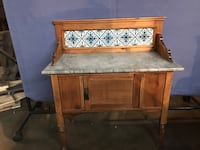 Wash stand brown marble top antique  North Vancouver, V7L 2Z5