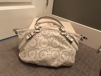 Coach white leather 2-way bag