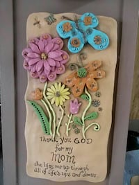 thank you god for my mom floral quote board Pharr, 78577