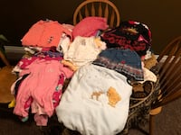 90 pieces of girls clothes size newborn to size 2 Edmonton, T5W 2C3