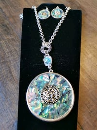 Abalone necklace and earring Langley City, V1M 3T4