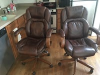 Brown Leather High Back Chairs Gaithersburg, 20878