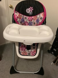 baby's white and red high chair Ashburn