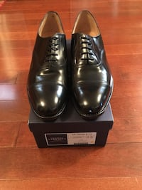 Charles Tyrwhitt black leather oxfords men's dress shoes Bowie, 20720