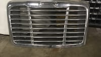 Silver vehicle front grill