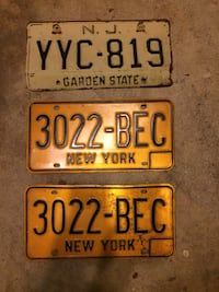 Vintage antique license plates NJ & NY