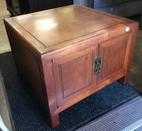 "#23463 Asian Teak 27"" Wide 20"" Tall End Table Cabinet Oakland"
