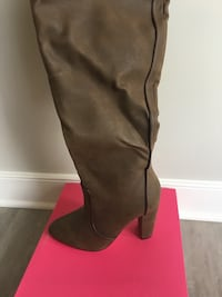 Brown over the knee Boot Sz 10