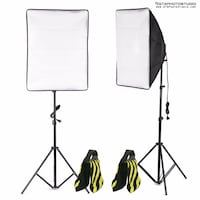 1000W Photo Video Softbox Lighting Kit + FREE SAND BAGS / GTAPhotoStudio . com Toronto