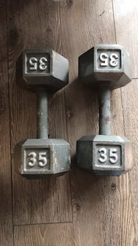 two gray fixed weight dumbbells Mississauga, L5J